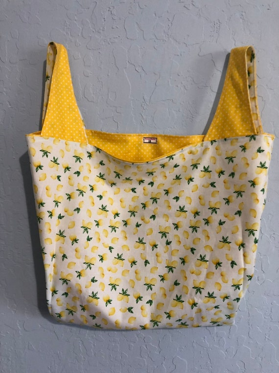 Lemon Reversible Market Bag