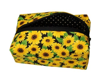 Sunflowers on Black Pouch