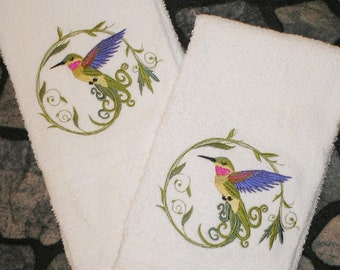 Hummingbird Towels Etsy