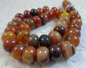 Translucent Coffee Brown Faceted Natural AGATE Round Focal Stone | PCF.141 44mm Drilled