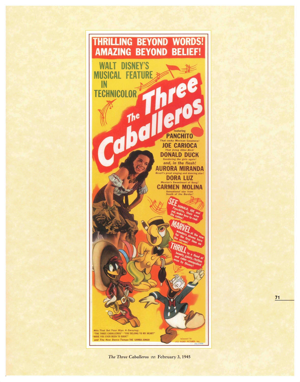 Vintage Disney Poster Print, 1945, The Three Caballeros, Item 105 ...