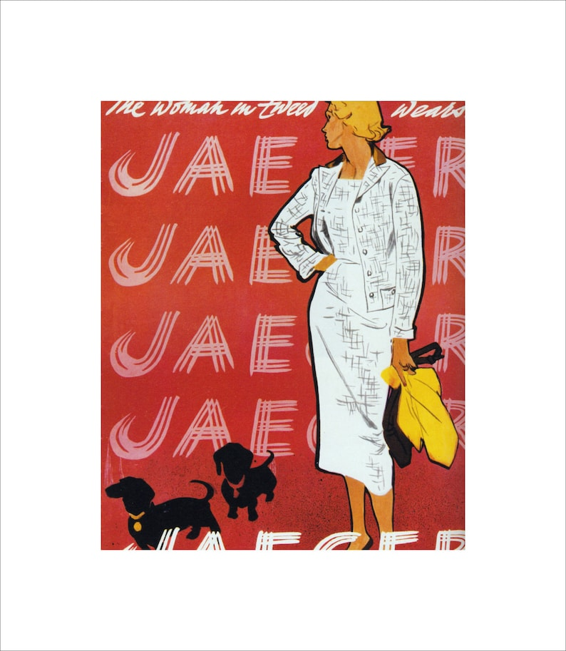 VOGUE Lady Moon Fashion Vintage Poster Advertisement Reproduction FREE SHIP