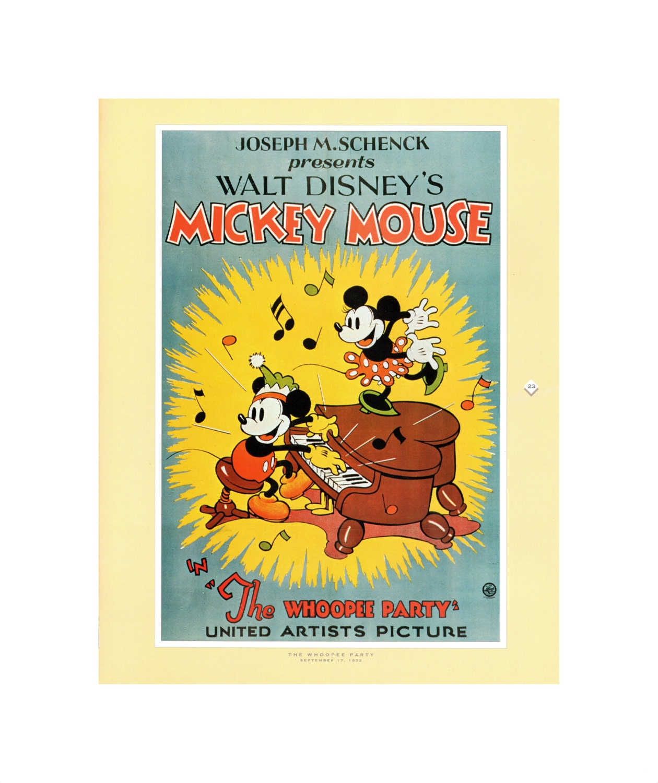 Vintage Mickey Mouse Print Item 106m 1932 16 X 20 Matte Mat