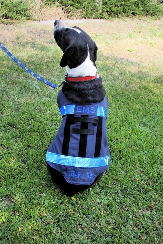 Ems Firefighter Service Dog Vest Therapy Dog Vest Search Etsy