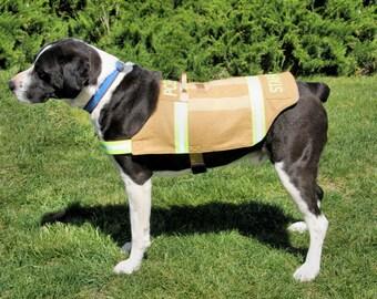 "Bunker's Gear"" Service Dog Vest, Therapy Dog Vest, Search & Rescue Vest"