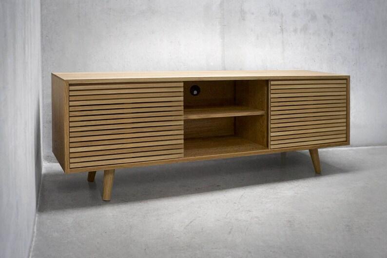 Credenza Peru : Solid white oak credenza sideboard cabinet media etsy