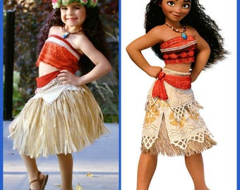 Moana Costume Disney Moana Dress Moana outfit Girls Toddler Adult Moana Cosplay Moana  princess dress up  Princess  Halloween costume