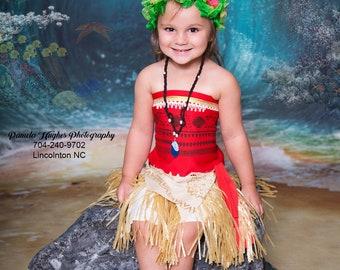 Moana Costume Moana outfit  Moana Disney Baby Moana dress Moana inspired dress Moana Maui Hula Party Moana Maui Halloween costume 2019