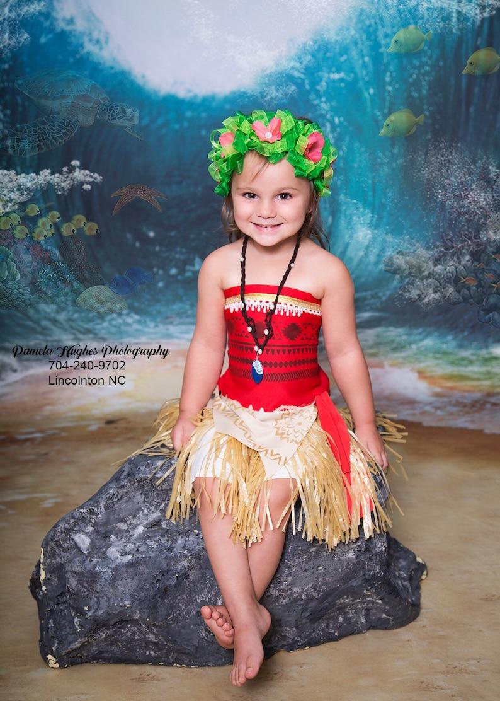 Moana Costume Moana outfit  Moana Disney Baby Moana dress image 0