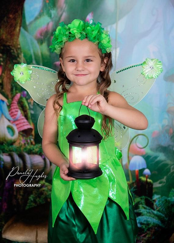 Tinkerbell Fata Ragazze Costume Fiaba Peter Pan Per Bambini Costume
