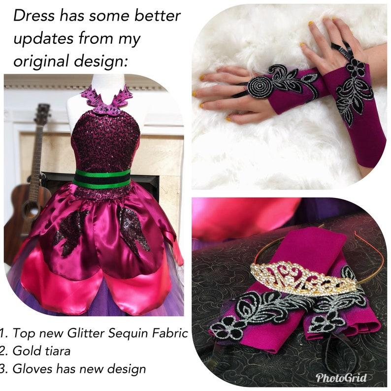 637a878882d Mal descendants 2 Diney Dress Mal dress Mal costume Mal outfit