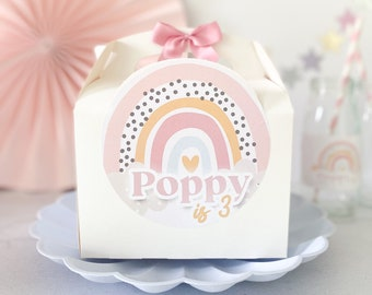 Children's Party Box   DOTTY RAINBOW   Personalised kids luxe picnic meal boxes