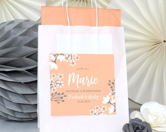 Personalised Wedding Favour Gift Bags - BLOSSOM - Paper Party Bag
