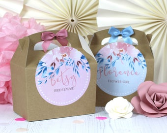 Personalised Childrens Activity Party Favour Gift Box | KRAFT ROSE MEADOW | Wedding Birthday Party Gift Bag with Bow