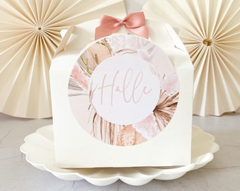 Children's Wedding gift box Box | BOHO PAMPAS  | Personalised favour party boxes