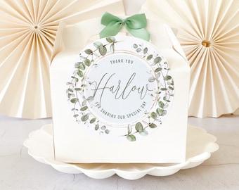 Children's Wedding gift box Box | EUCALYPTUS FOLIAGE | Personalised favour party boxes