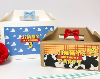 TOY STORY Birthday Party Box | PERSONALISED | Childrens Gift Boxes Favour