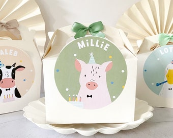 Children's Party Box | FARM ANIMALS | Personalised kids meal boxes
