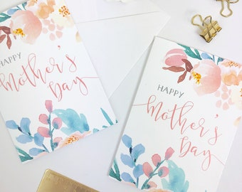 Happy Mother's Day Card | ROSE MEADOW | Greetings Card Mothering Sunday gift with envelope A6