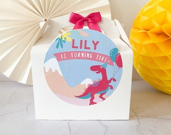 Children's Party Box | DINOSAUR | Personalised kids meal boxes