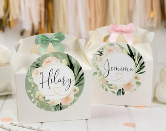 Personalised Childrens Activity Party Favour Gift Box | BLUSH | Wedding Birthday Party Gift Bag with Bow