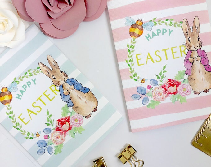 Featured listing image: Happy Easter Card | PETER RABBIT | Greetings Card Childrens Easter Treat Easter Egg Hunt with envelope A6