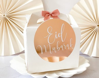Personalised Party Favour Gift Box | FOIL EID MUBARAK | Celebration Party Gift Bag with Bow