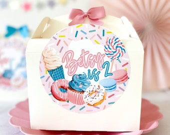 Birthday Party Children's picnic Box   ICECREAM   Childrens Gift Boxes Favour Lunch boxes