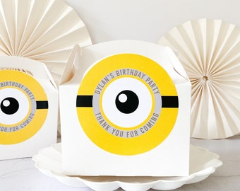 MINION Birthday Party Activity Box   PERSONALISED   Childrens Gift Boxes Favour