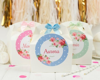 Personalised Childrens Activity Party Favour Gift Box -Wedding / Birthday Party Gift Bag with Bow