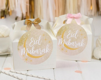 Personalised Party Favour Gift Box | EID MUBARAK | Celebration Party Gift Bag with Bow
