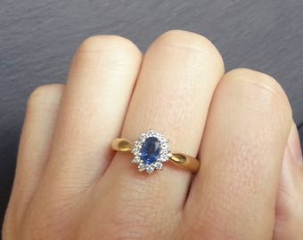 Kate Middleton Sapphire & Diamond Halo Engagement Ring