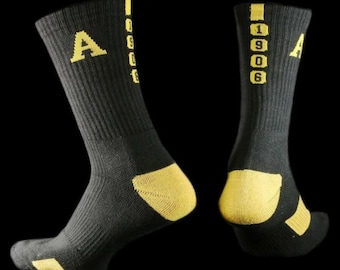 Black Mason Fraternity Athletic Dry Fit Crew Socks