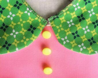 "Apron ""BALOCCO-Tondo Click"" Classic collar-Kindergarten painting-Waldorf-Montessori-for children and adults"