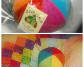 Ball cloth with Rattle. Cloth Ball of wool-ball soft fabric-colorful fabric ball