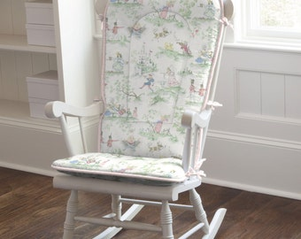 Charmant Pink Over The Moon Toile Rocking Chair Pad By Carousel Designs   Chair Not  Included