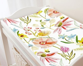 Carousel Designs Watercolor Springtime Changing Pad Cover