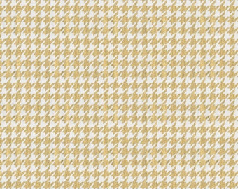 Gold Houndstooth Fabric - By The Yard - Girl / Boy / Gender Neutral