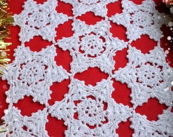 CROCHET PDF PATTERN - Table Runner, Table Linens, Crochet Doily, Crochet Tablecloth, Table Topper, Vintage Pattern, Christmas Pattern,
