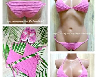 CROCHET PATTERN - Crochet Bikini Pattern Crochet Swimsuit Crochet Beachwear Crochet Bikini Bottom Crochet Bikini Top Crochet Summer