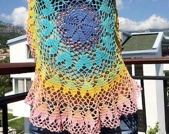 CROCHE TOP - Crochet Top Pattern Crochet Heart Top Crochet Summer Top Crochet Hearts Crochet Lace Top Crochet Blouse Crochet Plus Size Top