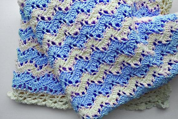 Pdf Crochet Pattern Baby Blanket Crochet Wave Blanket Etsy