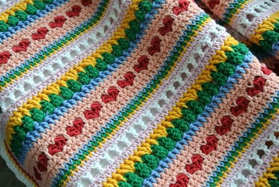 Crochet Pattern Baby Blanket Heart Blanket Crochet Blanket Etsy