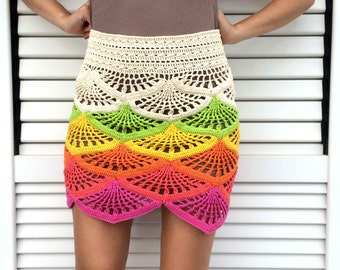 CROCHET PATTERN PDF - Crochet Skirt, Summer Skirt, Midi Skirt, Maxi Skirt, High Waisted Skirt, Easy Crochet Pattern, Boho Crochet Skirt
