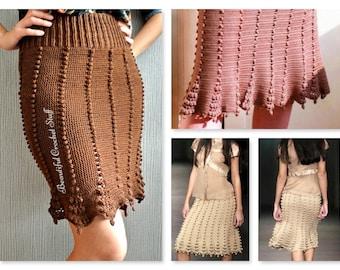 PDF CROCHET PATTERN - Crochet Skirt Pattern, Womens Skirt Pattern, Crochet Boho Skirt, Crochet Midi Skirt, Crochet Maxi Skirt, Easy Crochet