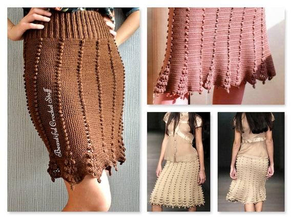 Pdf Crochet Pattern Crochet Skirt Pattern Womens Skirt Etsy