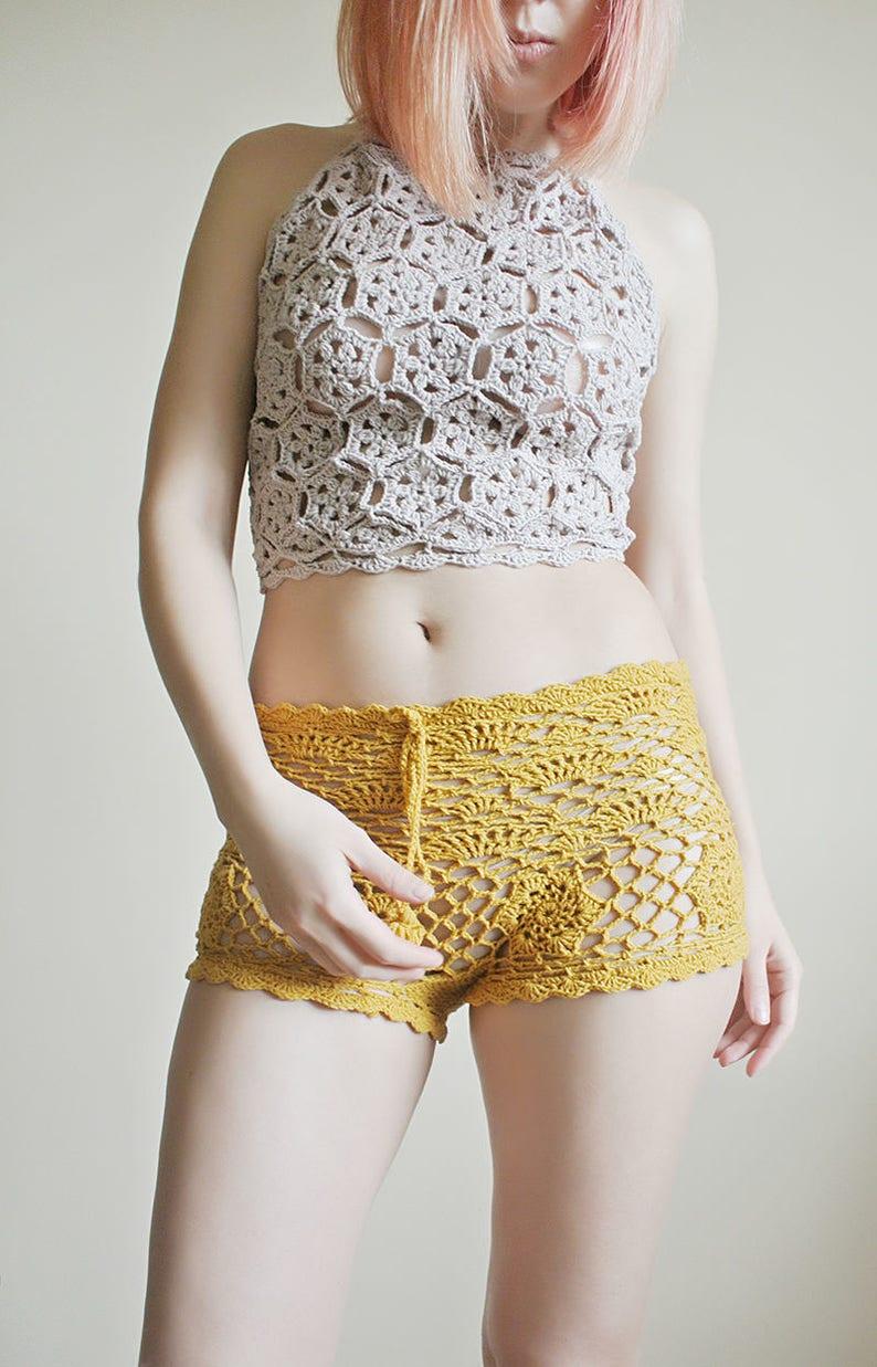 Crochet Pattern Crochet Shorts Pattern Lace Shorts Beach Etsy