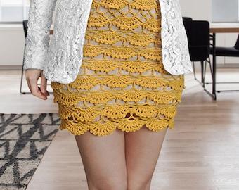 CROCHET PATTERN - Crochet Skirt Layered Skirt Summer Skirt High Waist Skirt Pencil Skirt Shell Skirt Mini Skirt Maxi Skirt Midi Skirt