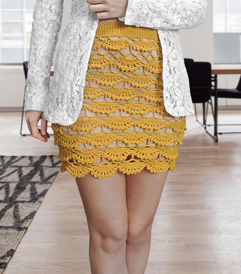 ea3c3ad56f9 CROCHET PATTERN - Crochet Skirt Layered Skirt Summer Skirt High Waist Skirt  Pencil Skirt Shell Skirt Mini Skirt Maxi Skirt Midi Skirt