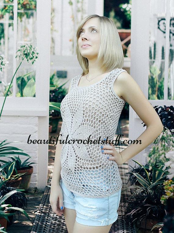 CROCHET PATTERN Boho Top pdf crochet pattern Crochet Top | Etsy